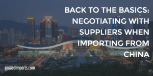 negotiating with chinese suppliers