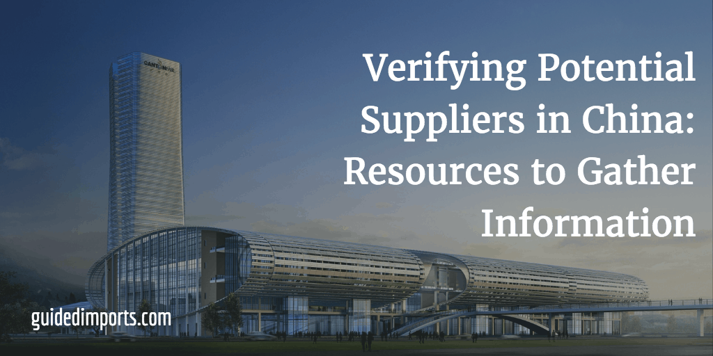verifying Chinese suppliers